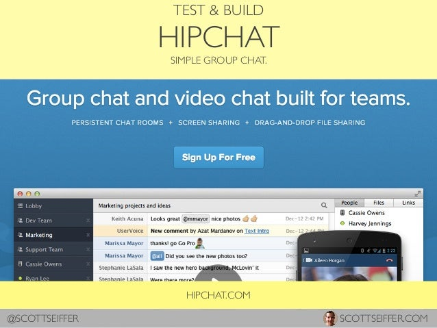 HIPCHAT.COM TEST & BUILD HIPCHAT