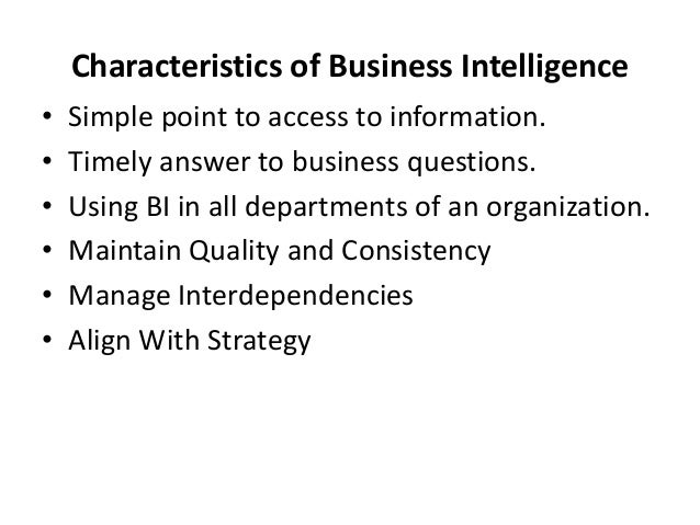 The Essentials Of Business Intelligence