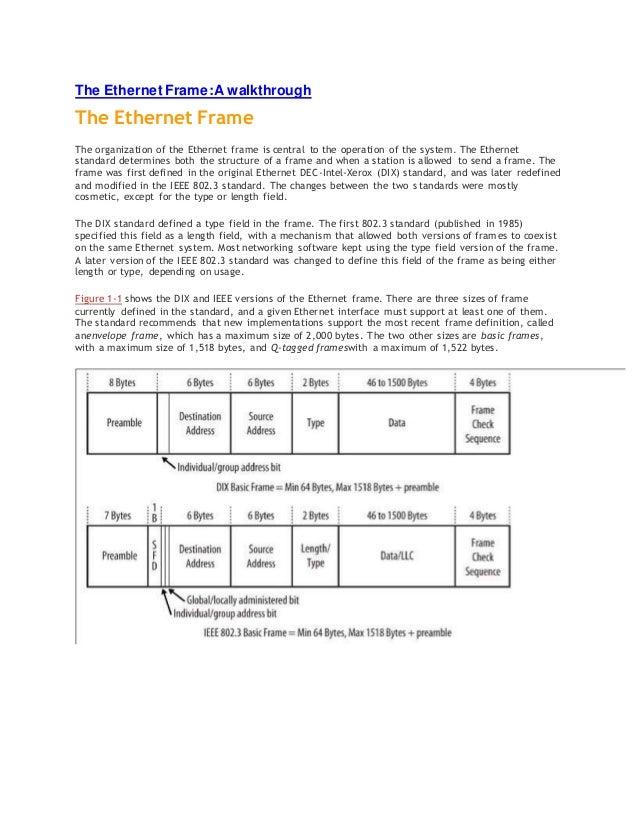 The ethernet frame a walkthrough