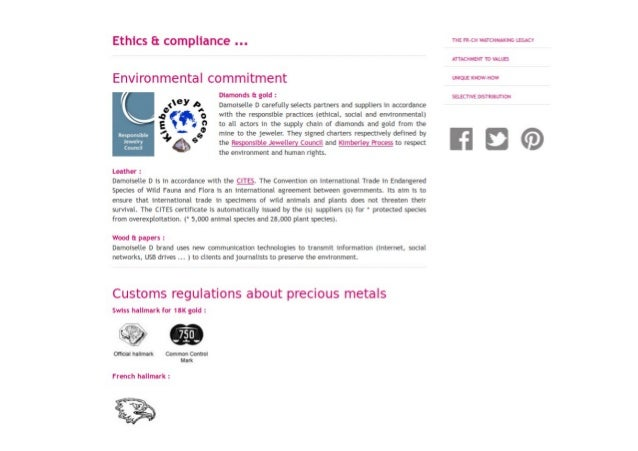 The ethical commitments