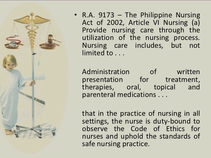 reaction about r a 9173 the philippine nursing act of 2002 Republic act no 9173 october 21, 2002  this act shall be known as the philippine nursing act of 2002  for the practice of nursing in the philippines shall.