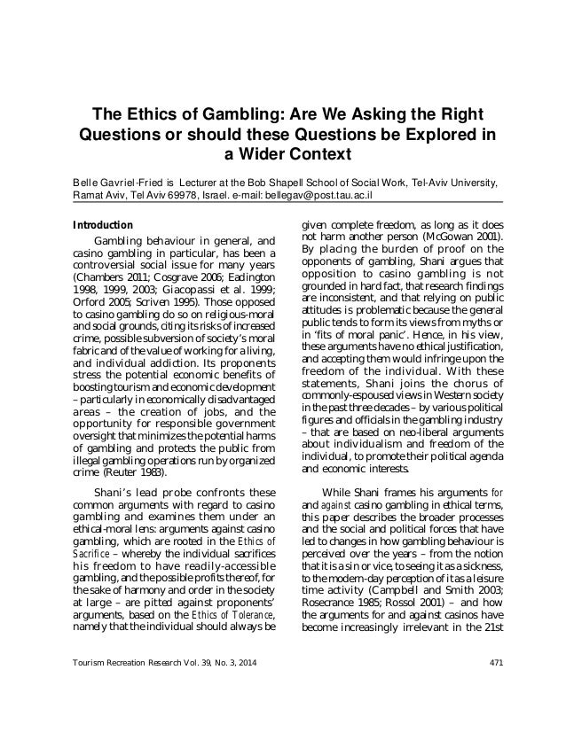 ethics involving gambling