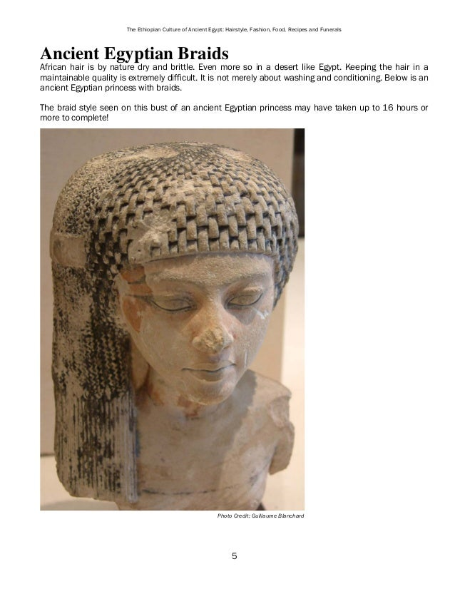 an overview of the ancient egyptian fashion and the fashionable hairstyles