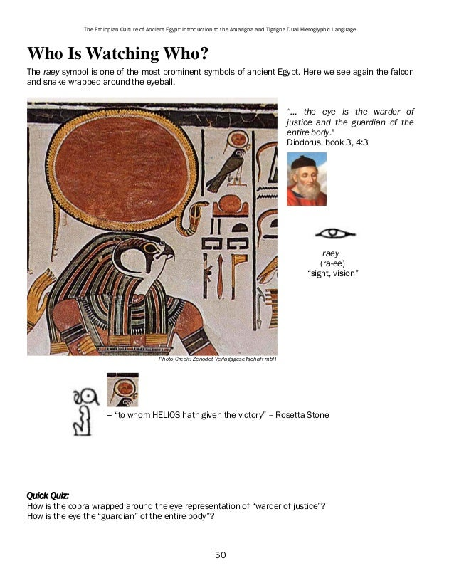The Ethiopian Culture Of Ancient Egypt Introduction To Amarigna And