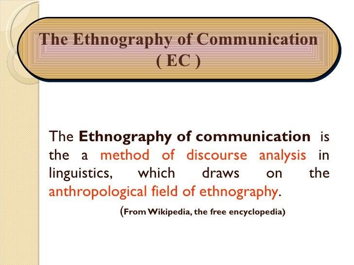 Ethnography of communication essay topics