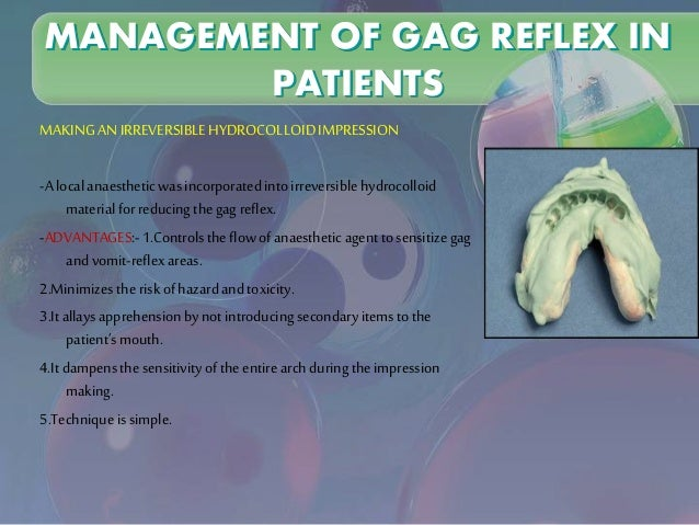the etiology and management of gagging