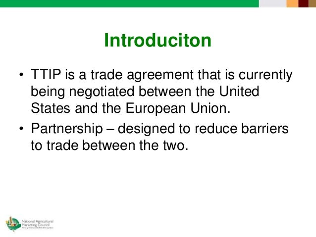 The Eu Us Transatlantic Trade And Investment Partnership Ttip