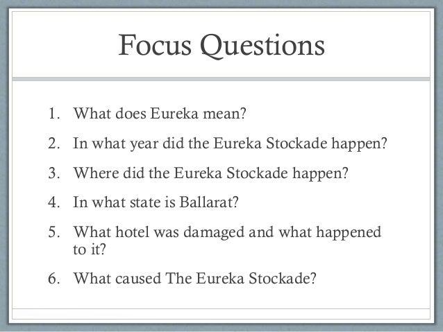 An analysis of the causes of the eureka stockade