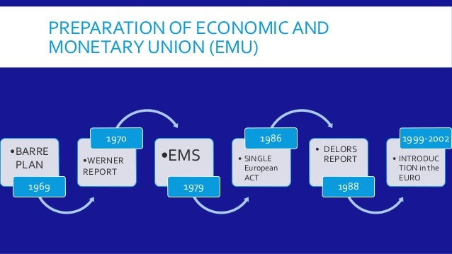 economic and monetary union emu The peterson institute for international economics, jointly with the federal reserve bank of boston, hosted a presentation by marco buti, the director-general for.