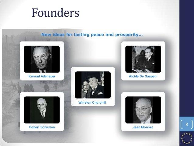 Founders New ideas for lasting peace and prosperity… Konrad Adenauer Robert Schuman Winston Churchill Alcide De Gasperi Je...
