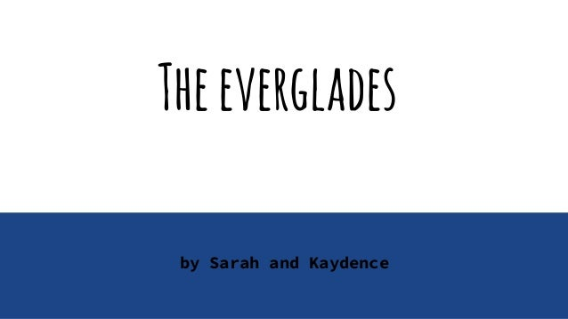 Theeverglades by Sarah and Kaydence