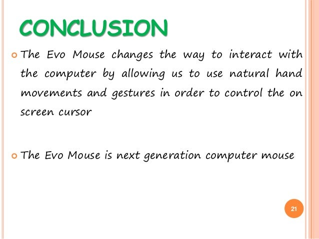 Evolution of the computer mouse