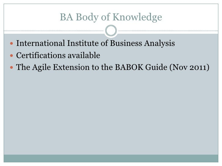 agile extension to the babok guide pdf