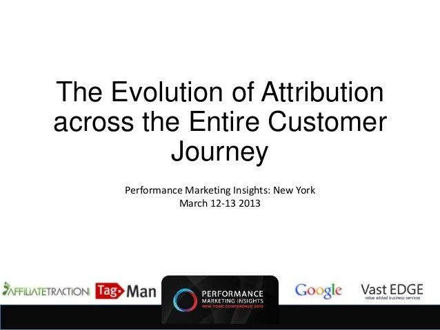 The Evolution of Attributionacross the Entire Customer         Journey      Performance Marketing Insights: New York      ...