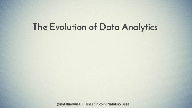 The Evolution of Data Analytics