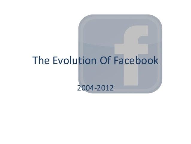 The Evolution Of Facebook        2004-2012