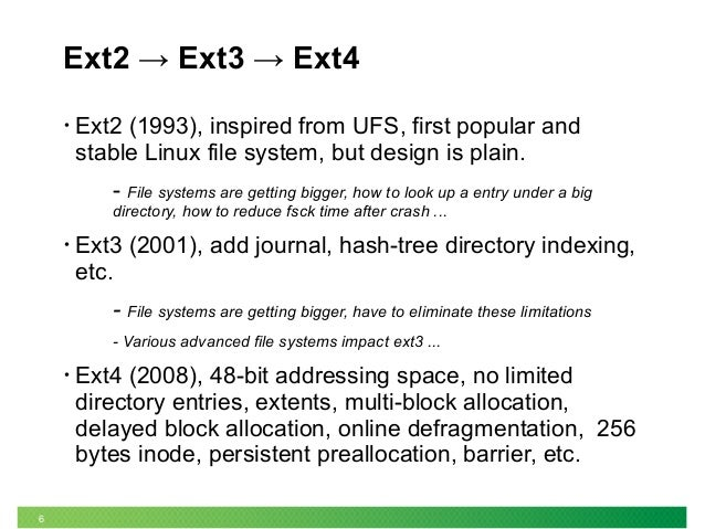 The evolution of linux file system