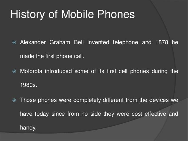 History of Cellphone Research Paper - Words