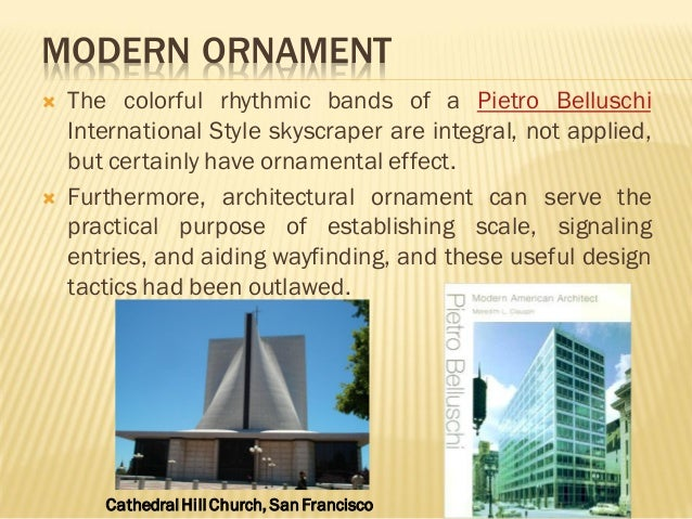 Modern Architecture Ornament the evolution of ornaments