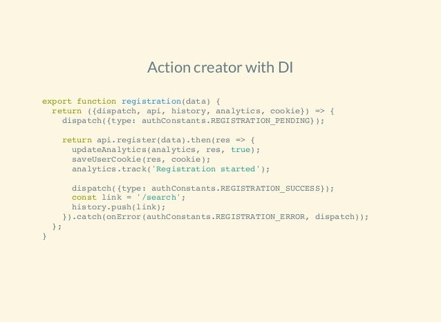 The evolution of redux action creators