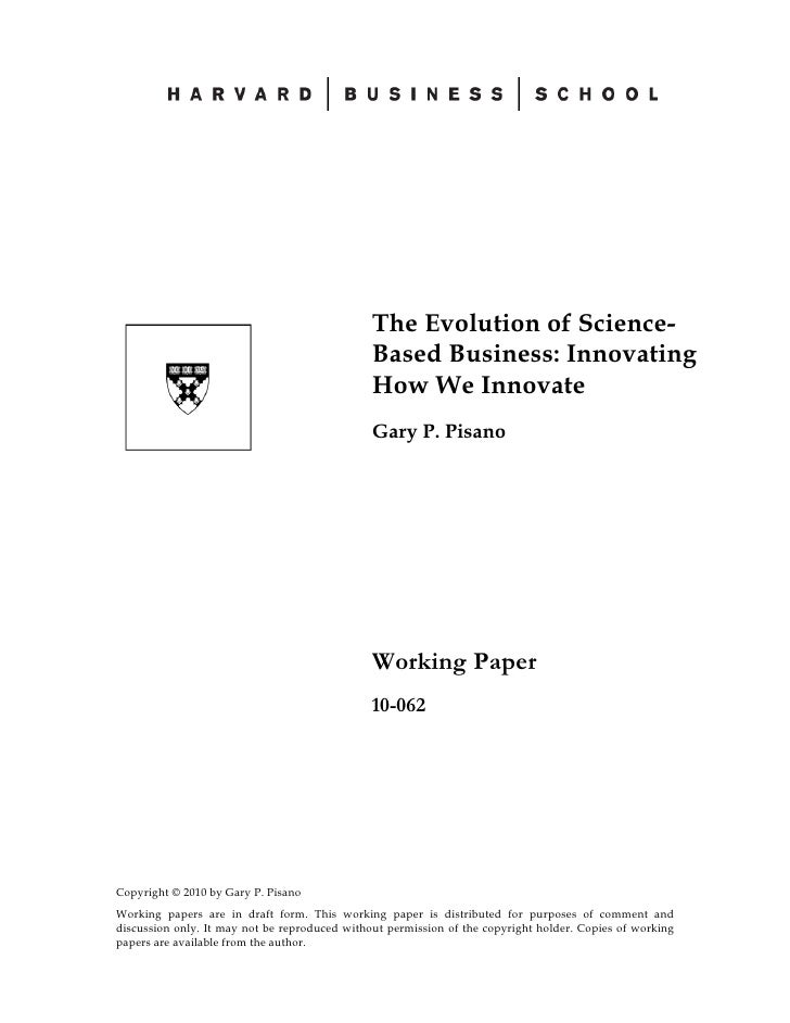 The Evolution of Science-                                                Based Business: Innovating                       ...
