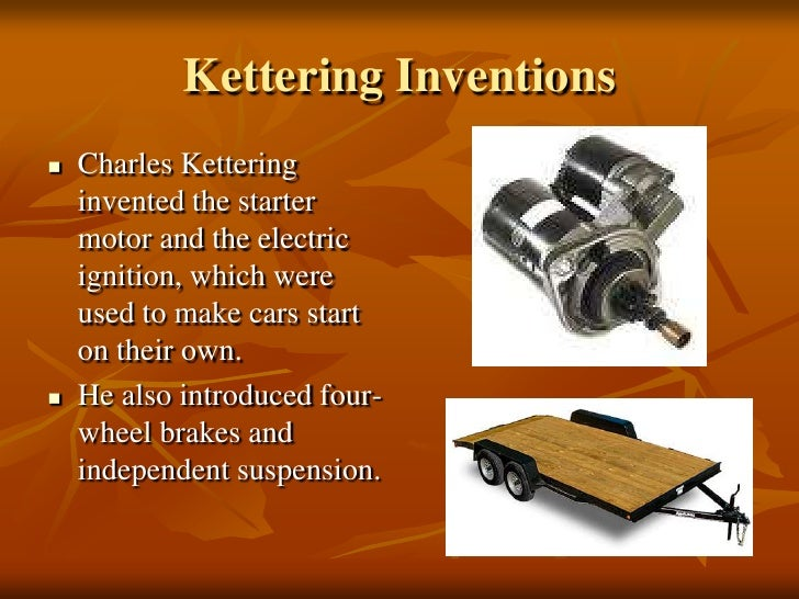Who Invented The Electric Starter For Cars