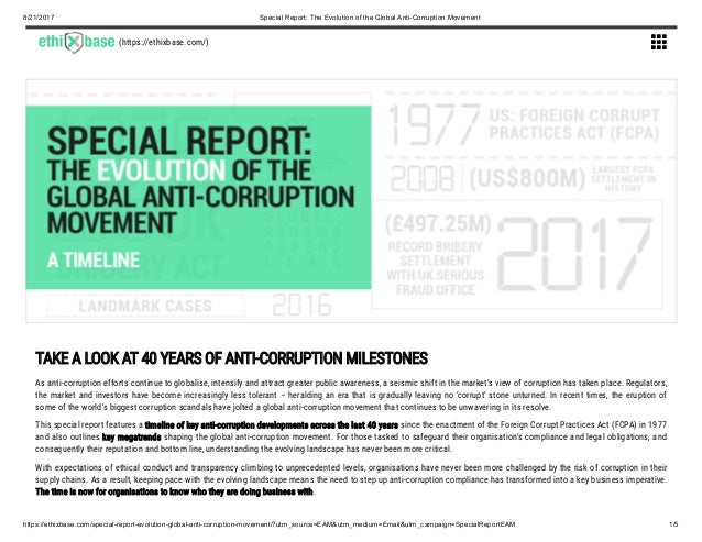 8/21/2017 Special Report: The Evolution of the Global Anti-Corruption ...