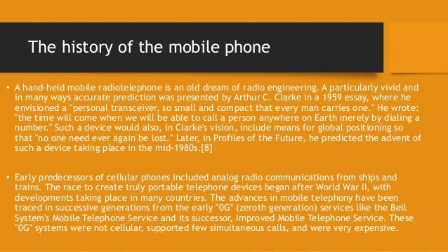 the evolution of the mobile phone 3 the history of the mobile phone