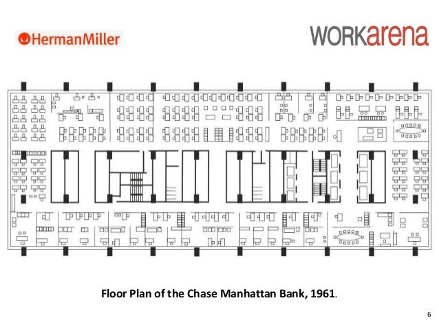 6 Floor Plan Of The Chase Manhattan Bank, 1961.