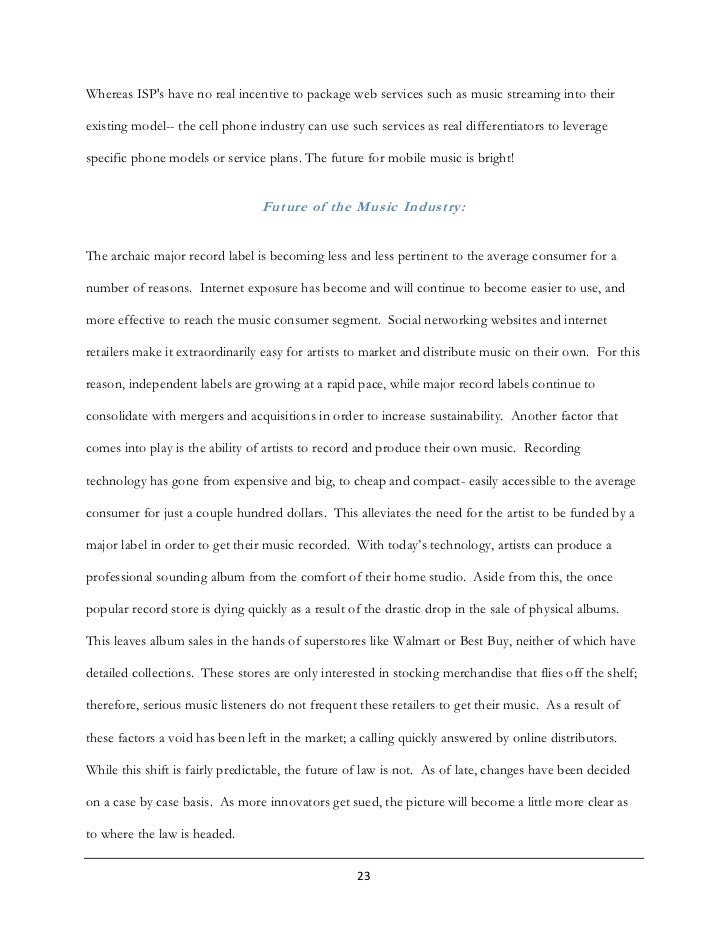 Essay On Science And Technology Music Industry Essay Music Industry Essays And Papers Edu Essay  Essay On  Industry Thesis Of A Compare And Contrast Essay also Good High School Essay Topics Essay On Industry  Romefontanacountryinncom Example Of An Essay Paper