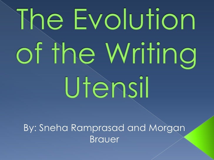 evolution of the english writing A history of writing one of the earliest examples of writing, a 4th millennium tablet from uruk, lists sacks of grain and heads of cattle.