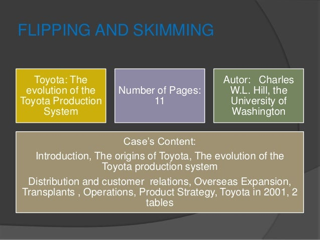 distribution strategies of toyota Cooperation with business partners 70 distribution strategy relations with overseas distributors toyota is implementing a new product and distribution strategy that outlines the reorganization of toyota-brand sales channels.