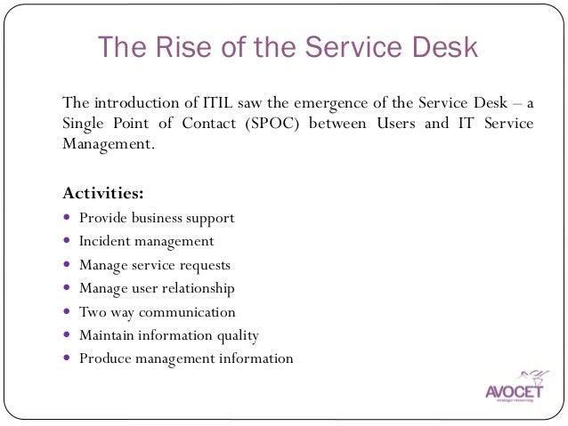 ... Function; 4. The Rise Of The Service Desk ... Images