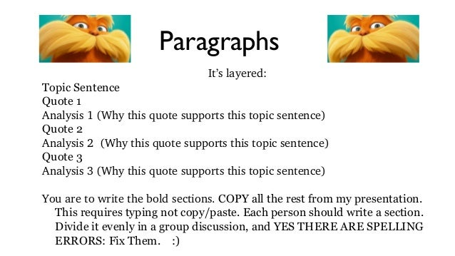 Essay help topic sentence