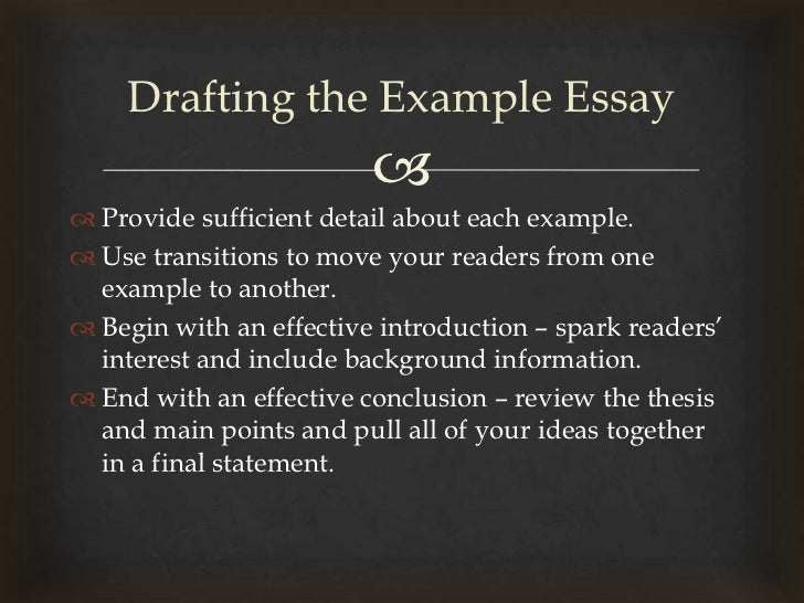 the example essay lecture