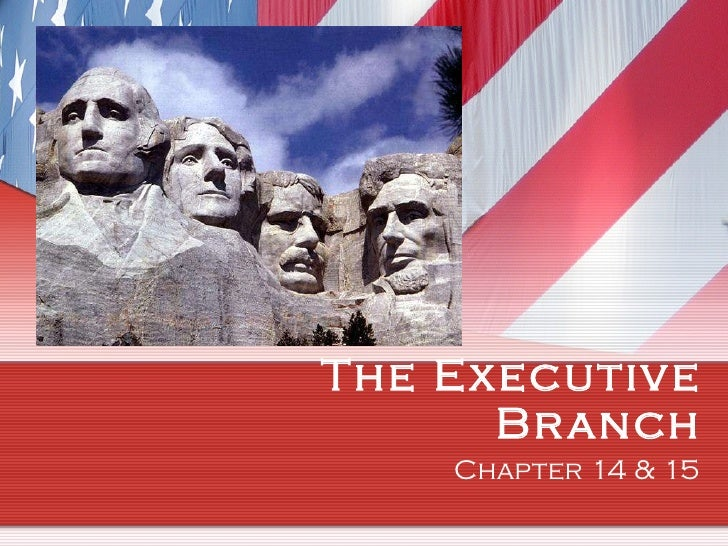 The Executive Branch Chapter 14 & 15