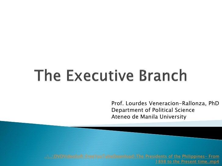 Prof. Lourdes Veneracion-Rallonza, PhD                              Department of Political Science                       ...