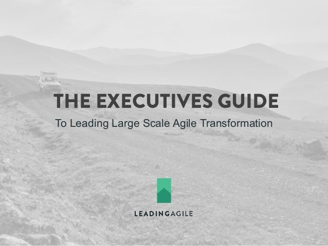 THE EXECUTIVES GUIDE To Leading Large Scale Agile Transformation