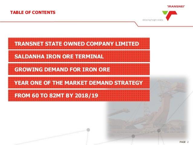 The expansion of Saldanha Port to meet nternational growing iron ore demand Slide 2