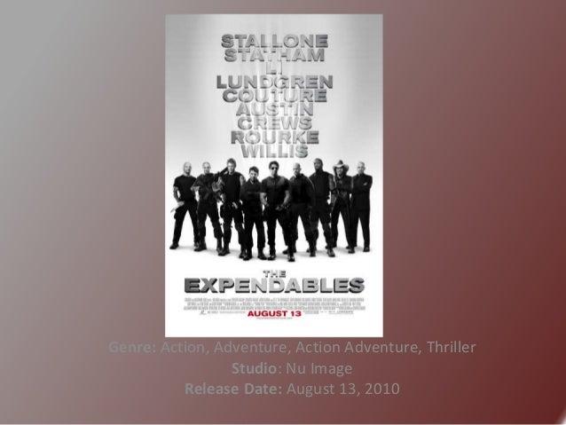 Genre: Action, Adventure, Action Adventure, Thriller Studio: Nu Image Release Date: August 13, 2010
