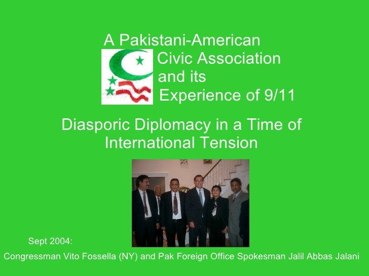 A Pakistani-American                               Civic Association                               and its                ...