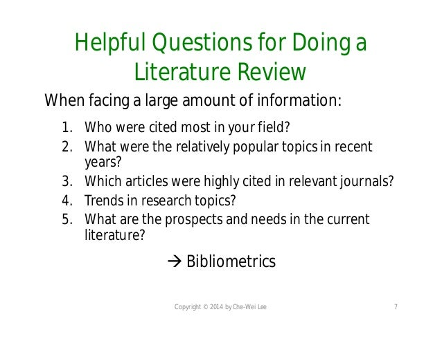 the literature review six steps to success The literature review: six steps to success is a must-have for both novice and experienced researchers the authors provide a roadmap as researchers journey from.