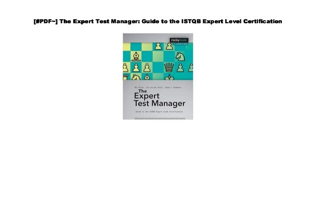 Audiobook] The Expert Test Manager: Guide to the ISTQB Expert Level …