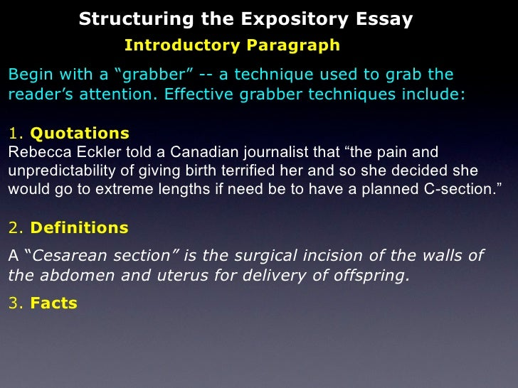 the expository essay 10 structuring the expository essay