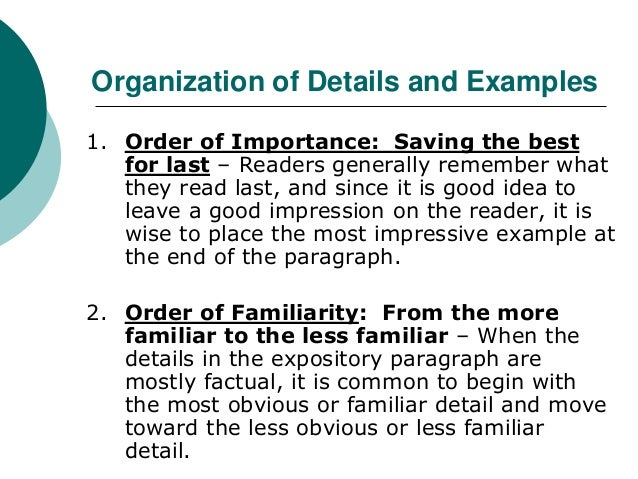 Example Paragraph Using Order Of Importance Essay - image 4