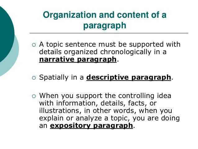 The expository paragraph