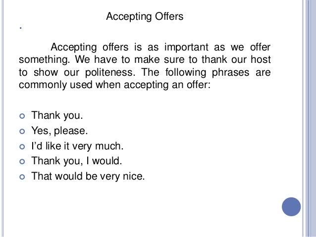 declining an offer