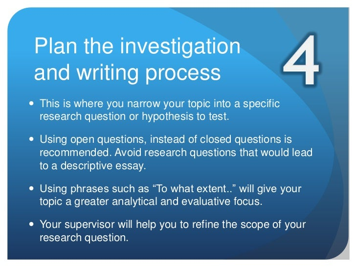 How to Write the Investigation Report
