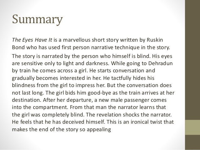 short story summary english