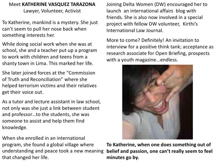 The faces of deltawomen online volunteers 3 Slide 3